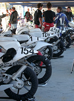 GP 125's Lined Up in the Pits
